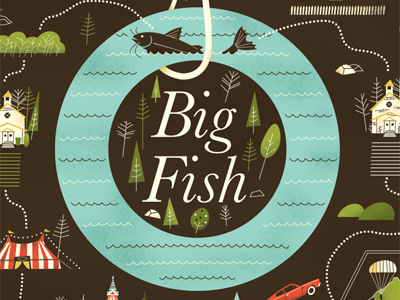 Big fish by brad woodard dribbble for Big fish screen printing