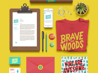Brave Branding Update stickers buttons postcard resume identity illustration tee business card design rebrand logo branding