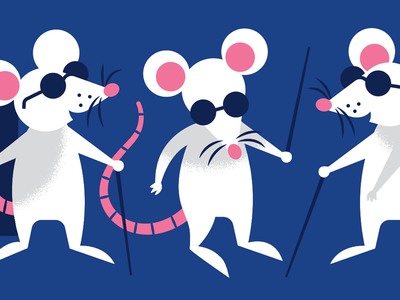 Three Blind Mice illustration character nursery rhyme mouse mice
