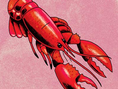 crawfish lotería texture illustration crawfish