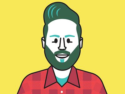 New Avatar vector character illustration headshot profile pic avatar
