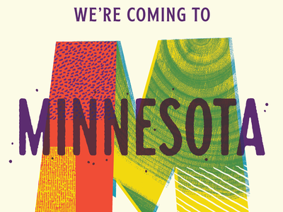 We're coming to Minnesota tour event illustration bugs textures workshop type minneapolis minnesota