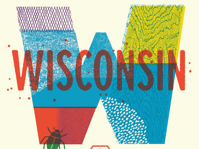 We're Coming to Wisconsin bugs type lettering textures class workshop madison wisconsin