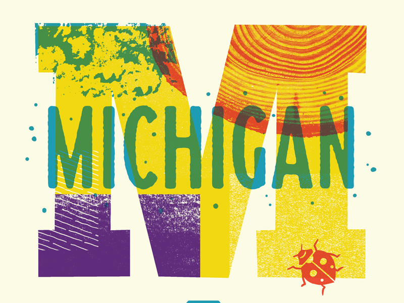 We're Coming to Michigan! lettering insects bugs textures workshop detroit grand rapids michigan
