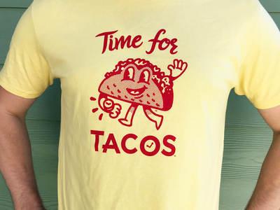 Time for Tacos Tees character illustration t-shirt tee tacos