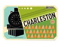Charleston luggage label