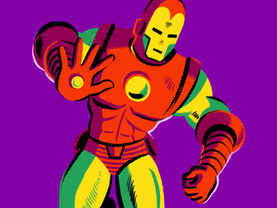 Iron Man marvel illustration character comics iron man