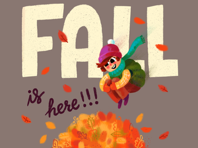 Fall Is Here puppy kids book character leaves fall