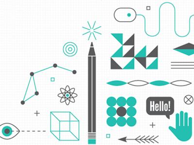 Tomchummery design illustration shapes tools icons patterns modern