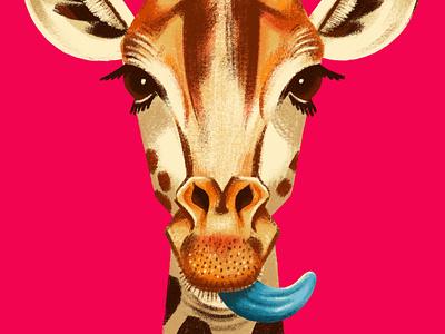 Giraffe Portrait portrait animal digital painting digital illustration procreate art procreate brushes ipadproart giraffe illustration