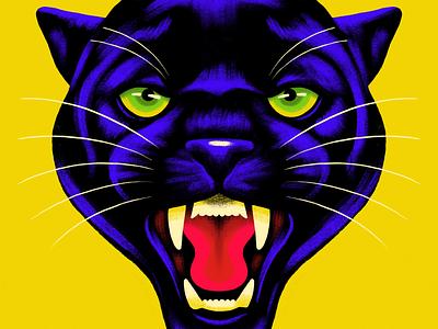 Black Panther cat ipad pro procreate panther black panther animal
