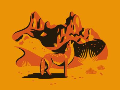 Mule Ear Peaks retro mountains coyote national park big bend