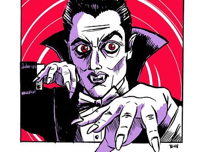 Prompt #1: Vampire halloween vampire procreate ipad pro art inktober drawlloween