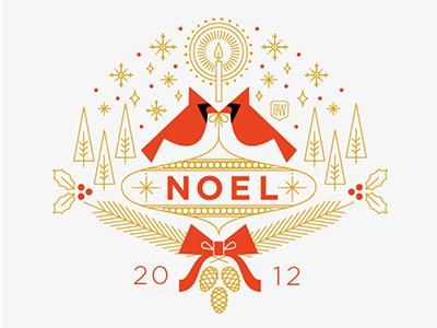 Woodard Christmas Card 2012 christmas holiday greeting card candle bird forest holly season