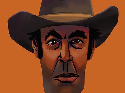 Old Cowboy Study western movie ipad pro procreate illustration character digital painting western cowboy
