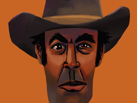 Old Cowboy Study