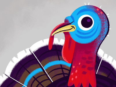 Thanksgiving 2019 procreate ipad pro digital illustration bird animal turkey thanksgiving