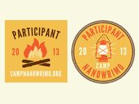 Camp NaNoWriMo Web Badges