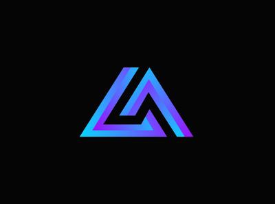 LA logo icon vector logo design concept logo design branding esportslogo logo design logo illustration design branding