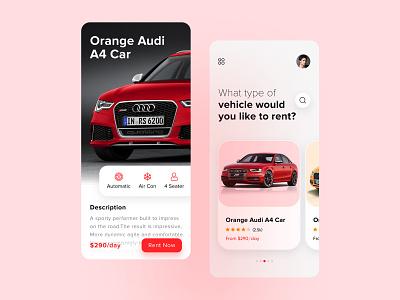Car Rental App ux ui mobile app development app concept figma creation clean ui rental app application minimal icon cars rent app car rental app