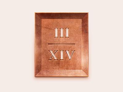 Copper 3/14 Sign copper estate residental typography logotype logo letterwork lettering letter identity
