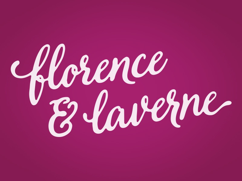 Florence & Laverne Logo hand lettered script logo typography type custom boutique blog