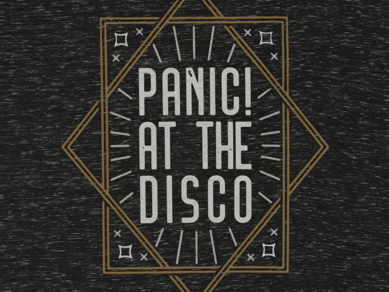 Panic At The Disco Art Deco T Shirt By Brent Galloway Dribbble