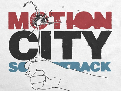 Motion City Soundtrack / Limited Sparkler Tee band logo typography t-shirt illustration july 4th independence day 4th of july sparkler music merch apparel motion city soundtrack