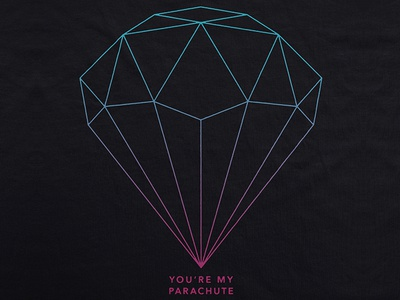 Joshua Micah / Parachute wireframe low poly apparel t-shirt merch music geometric parachute joshua micah