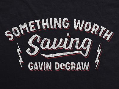 Gavin DeGraw / Something Worth Sharing music apparel t-shirt retro vintage type lightning bolt merch tour gavin degraw