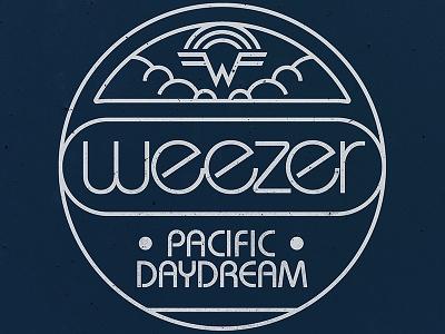 Weezer / Pacific Daydream Launch Merch emblem type vintage monoline retro jacket merch music daydream pacific keychain weezer