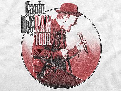 Gavin DeGraw / Raw Tour T-Shirt band merch retro vintage music apparel t-shirt merch tour gavin degraw