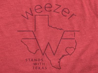 Weezer / Hurricane Harvey Relief Tee band merch merch vintage monoline love apparel t-shirt relief harvey hurricane weezer