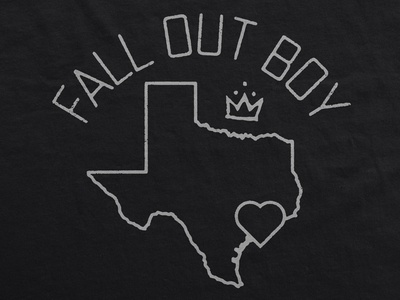 Fall Out Boy / Hurricane Harvey Relief Tee apparel t-shirt music merch houston relief harvey hurricane texas fall out boy