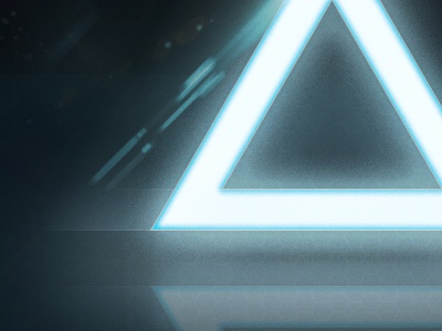 Illuminated Triangle Wallpaper glow illuminated triangle wallpaper space lens flare crisp texture hex brent galloway tron background download free