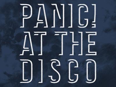 Panic! at the Disco / Logo Tie Dye Hoodie hot topic tie dye hoodie apparel t-shirt music logo merch panic at the disco patd