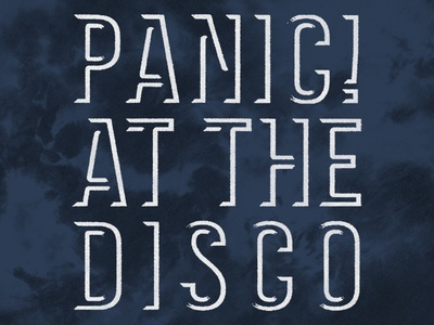 Panic! at the Disco / Logo Tie Dye Hoodie hot topic tie dye hoodie apparel t-shirt music logo merch panic at the disco patd