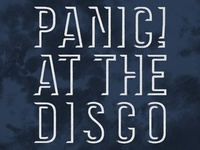 Panic! at the Disco / Logo Tie Dye Hoodie