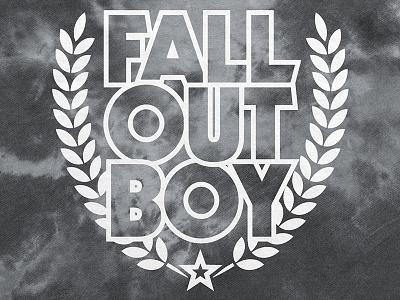 Fall Out Boy / Laurel Wreath Logo Tie Dye Hoodie star music merch apparel hoodie laurel logo tie dye hot topic fall out boy