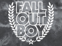 Fall Out Boy / Laurel Wreath Logo Tie Dye Hoodie
