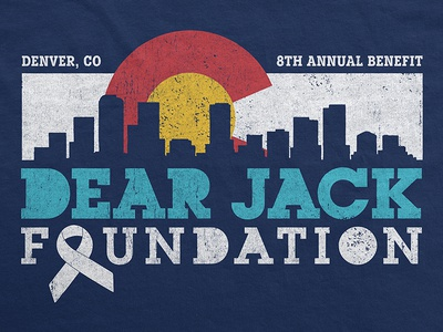 Dear Jack Foundation / 8th Annual Benefit Concert T-Shirt t-shirt ogden colorado denver music merch concert benefit cancer dear jack apparel andrew mcmahon