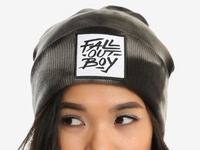 Fall Out Boy / Brush Logo Acid Wash Beanie