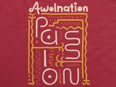 Awolnation / Passion Glyph T-Shirt merch tribal brush glyph passion southwest apparel t-shirt here come the runts awolnation