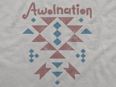 Awolnation / Southwest T-Shirt native american merch tribal southwest apparel t-shirt here come the runts awolnation