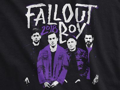 Fall Out Boy / 2018 Europe Tour T-Shirt mania band merch tee tour apparel punk music merch lettering brush europe fall out boy