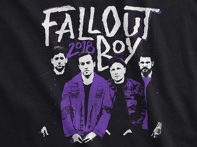 Fall Out Boy / 2018 Europe Tour T-Shirt mania band merch tee tour apparel punk music merch lettering brush europe fall out boy
