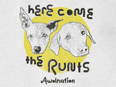 Awolnation / Here Come The Runts runts texture music band merch merch brush dogs southwest apparel t-shirt here come the runts awolnation
