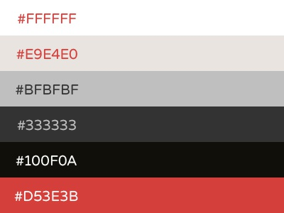 Rebrand Color Scheme brent galloway color palette rebrand red scheme