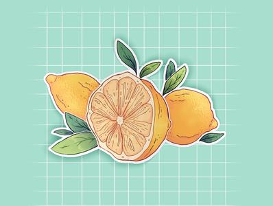 Lemon Cluster Sticker