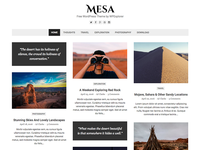 Mesa Free Masonry WordPress Theme